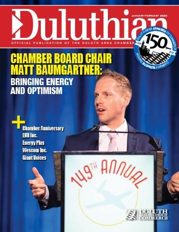 Duluthian Chamber Board Chair Matt Baumgartner Magazine Cover