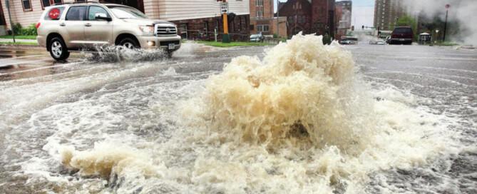 store drain overflow